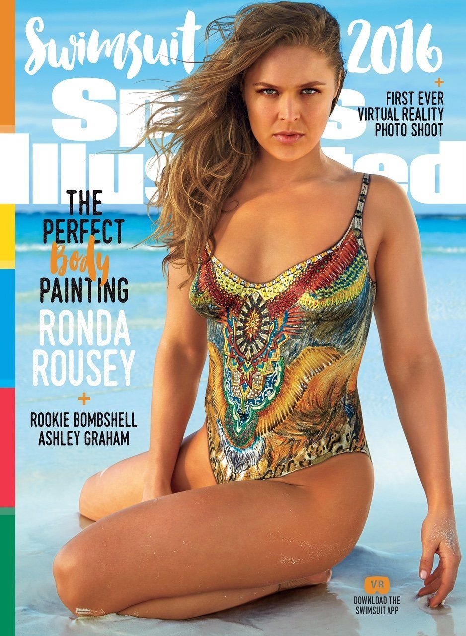 UFC fighter Ronda Rousey covers the 2016 Sports Illustrated Swimsuit Issue, on sale Monday.