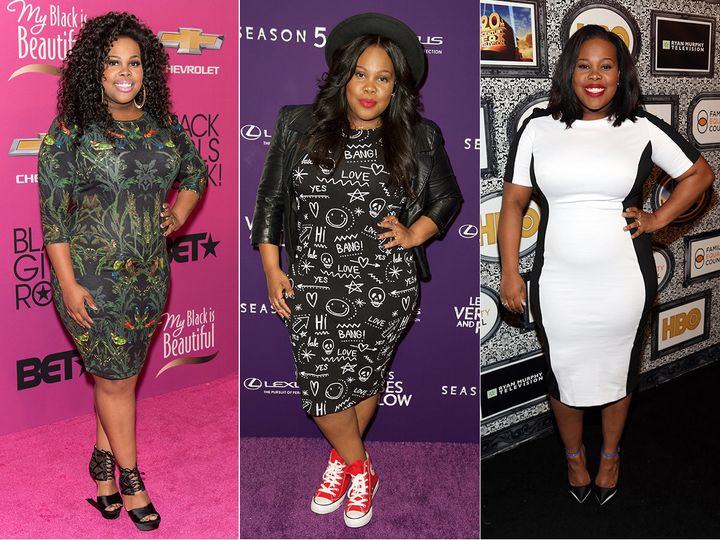 Amber Riley shows us three ways to dressup and down abody-con dress.