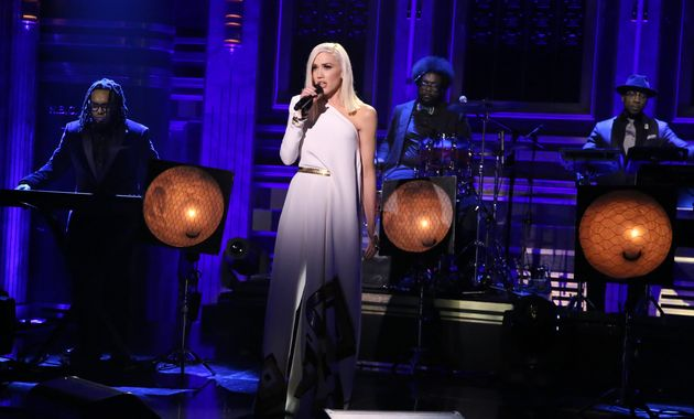 Musical guest Gwen Stefani performs with The Roots on December 3, 2015 on
