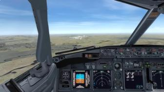 How to land a 737 aircraft.