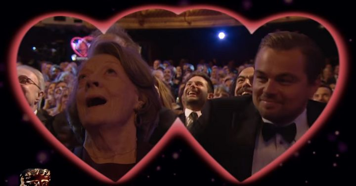 Maggie Smith and Leonardo DiCaprio.