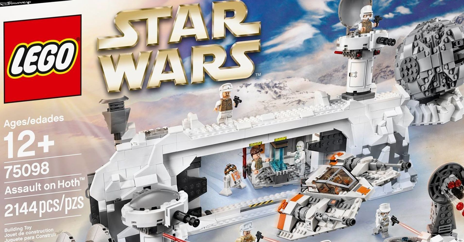 This New Lego Set Turns Your Home Into An Old School Star Wars Film 75098 Assault On Hoth Huffpost Life
