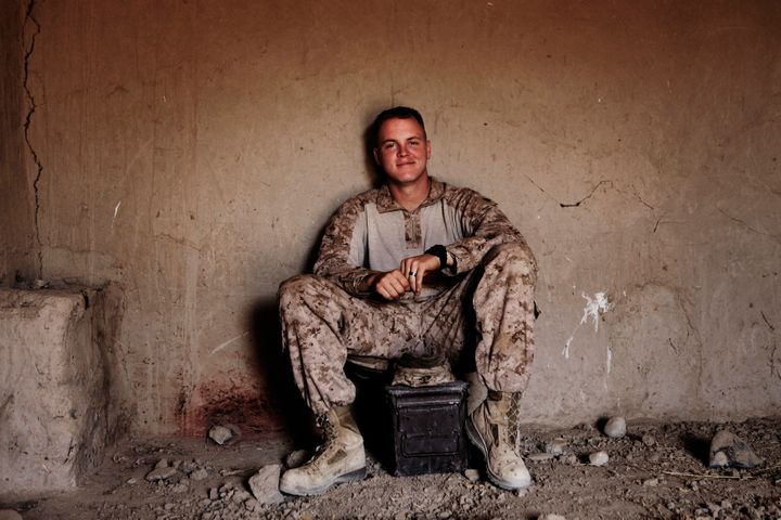 A 2010 portrait of Brennan in Musa Qala, Afghanistan, by Finnbarr O'Reilly.