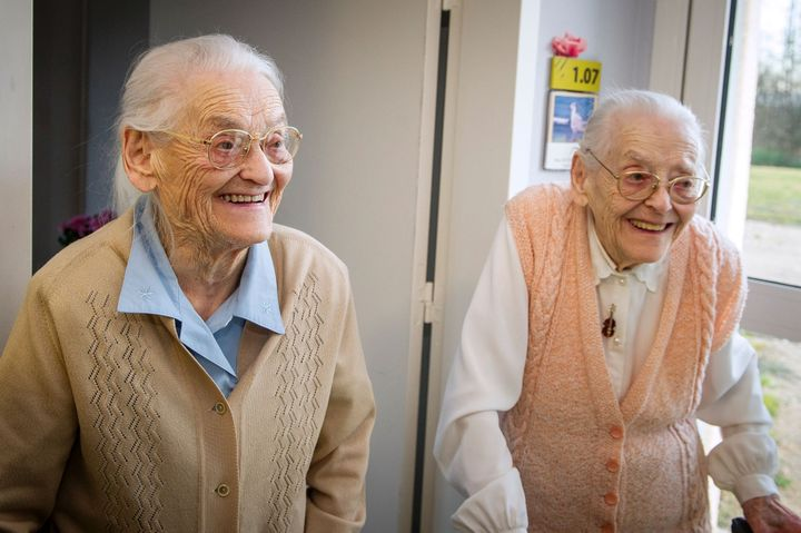 104-year-old twins Simone Thiot and Paulette Oliviersaid their close relationship is responsible for their longevity.