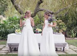 See What Happens When Two Brides Choose The Same Gown To Marry...Each Other