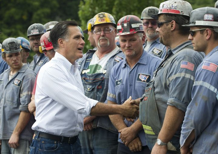 Mitt Romney held a rally at a Murray Energy-owned mine in 2012. Management reportedly told miners that attendance was mandatory.