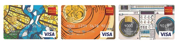 Atlanta-based artist, Keith Rosemond II, designs original debit/credit card art for Wells Fargo's Card Design Studio&re