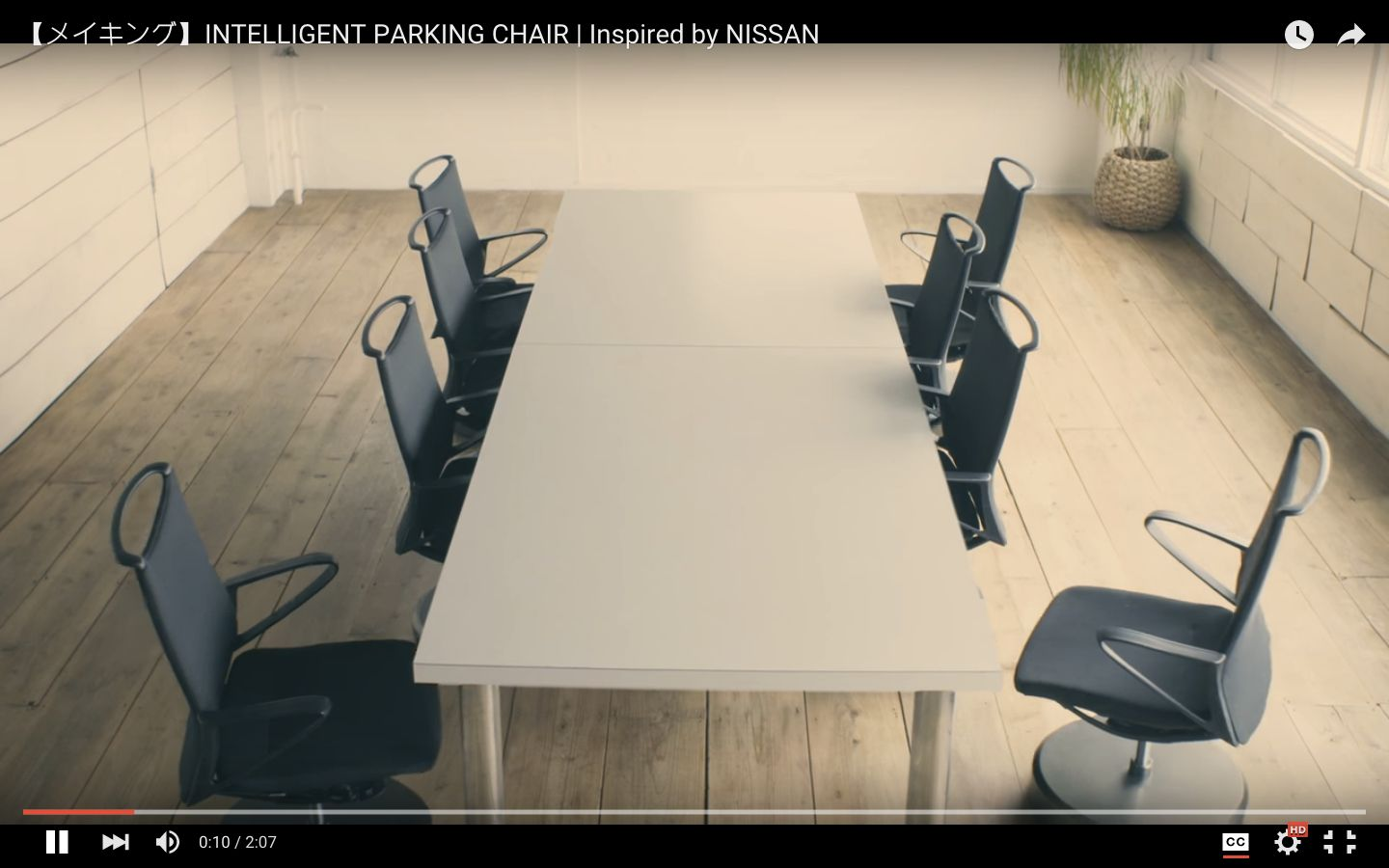 Nissan's self-parking chairs keep lazy offices tidy