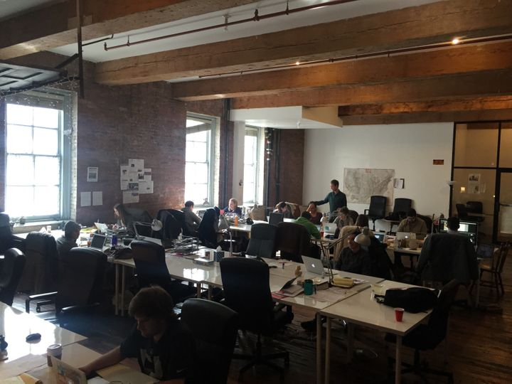 A couple dozen editors work from The Tab's office in the northern end of Williamsburg, a neighborhood of Brooklyn.
