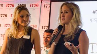 Sarah Adler, left, and Mackenzie Barth speak during an event in Washington, D.C. in 2015 about Spoon University