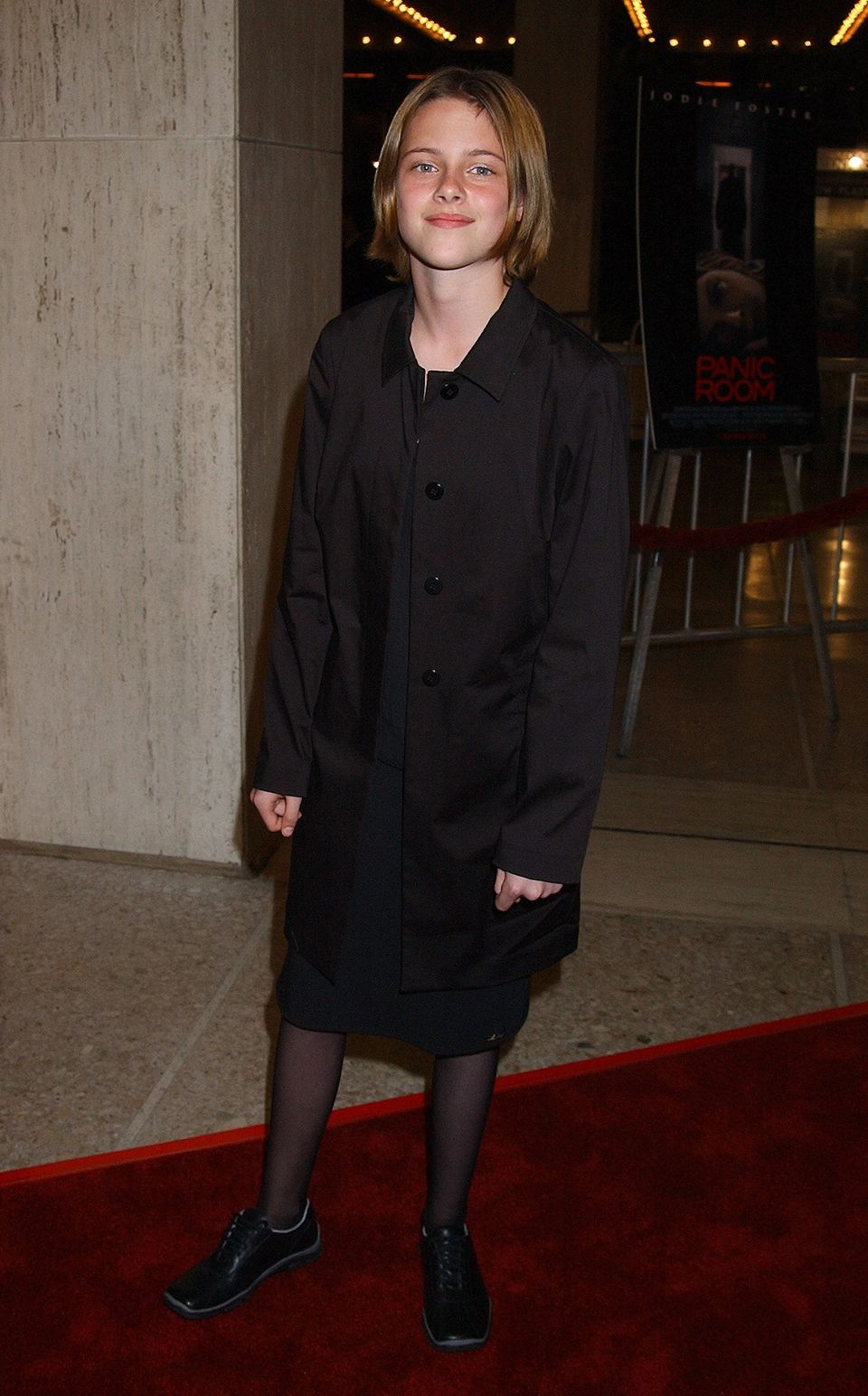 At the premiere of 'Panic Room' on March 18, 2002.