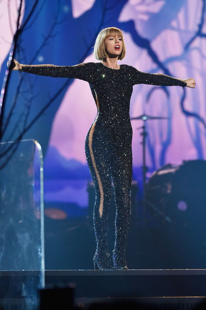Singer Taylor Swift performs onstage during The 58th GRAMMY Awards at Staples Center on February 15, 2016 in Los Angeles, Cal