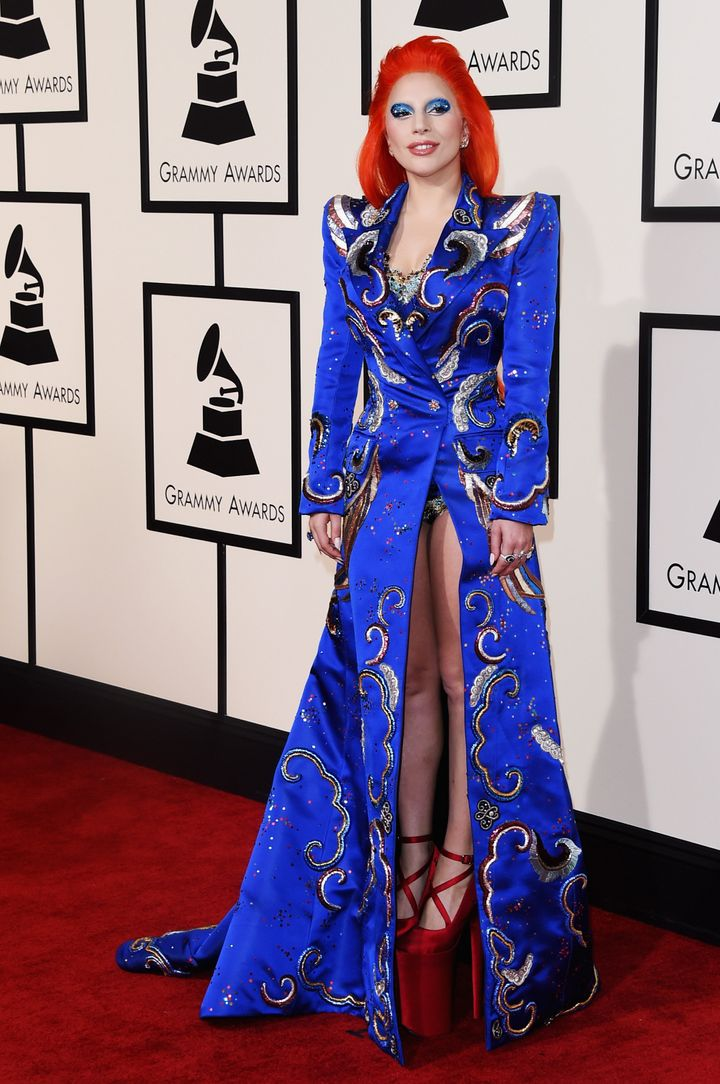 Lady Gaga at the 2016 Grammy Awards.