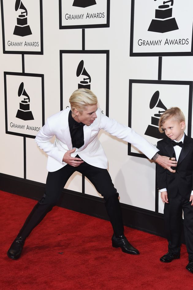 Justin Bieber Is Upstaged By His Adorable Little Brother At The