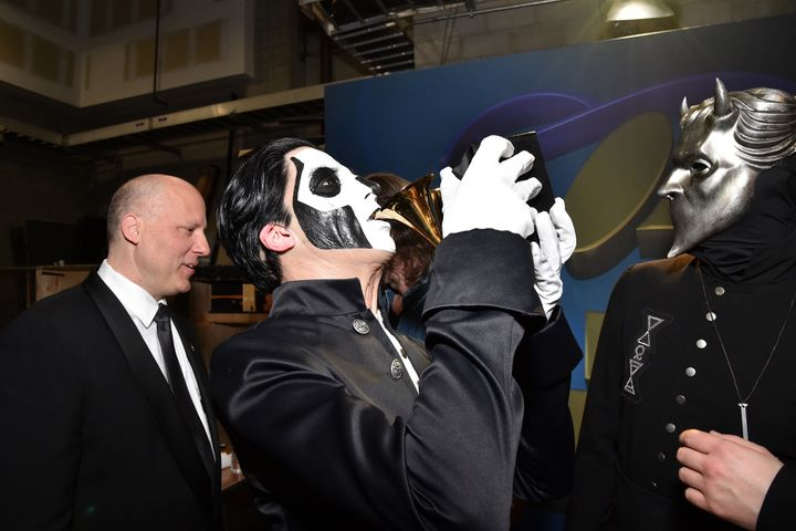 swedish band ghost were the talk of the grammys with their
