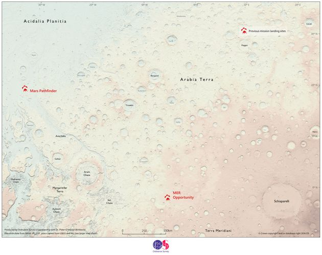 The map covers about 7 percent of Mars'