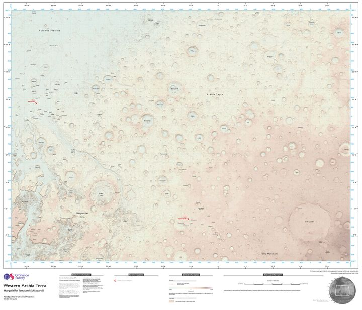 Ordnance Survey cartographer Chris Wesson spent several months creating the map.
