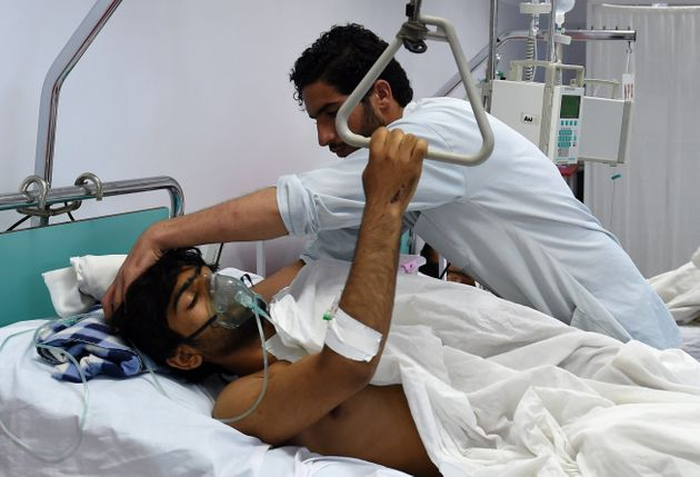 This wounded staff member of Doctors Without Borders in Kunduz was among those to survive the U.S. attack...