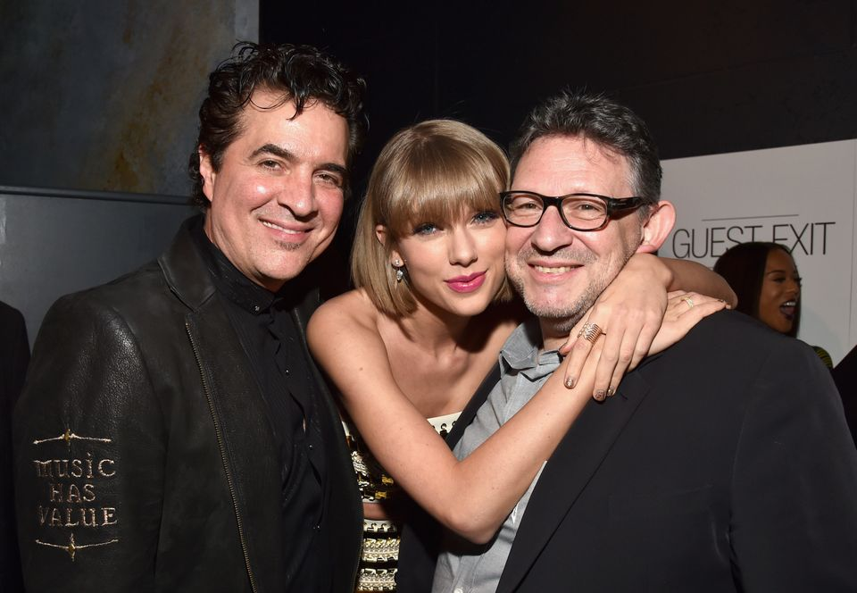 Founder of Big Machine Records Scott Borchetta, singer-songwriter Taylor Swift and CBE Chairman & CEO UMG Lucian Grainge