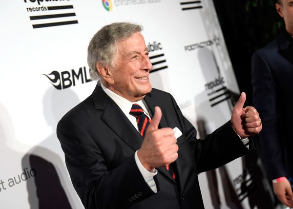 Recording artist Tony Bennett attends the Republic Records Grammy Celebration.