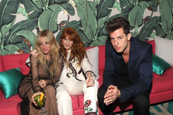 Musicians Mark Ronson, Florence Welch and guest attend the Absolut Elyx Hosts Mark Ronson's Grammy's Afterparty at Elyx
