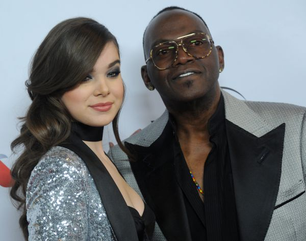 Actress/singer Hailee Steinfeld and Randy Jackson arrive at Universal Music Group's 2016 GRAMMY After Party.