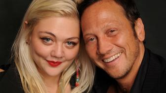PASADENA, CA - OCTOBER 15:  Musician Elle King (L) and her father, comedian Rob Schneider pose at The Ice House Comedy Club on October 15, 2009 in Pasadena, California.  (Photo by Michael Schwartz/WireImage)