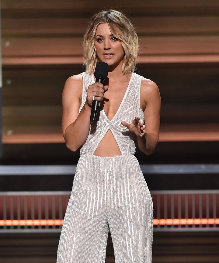 Kaley Cuoco speaks onstage during The 58th GRAMMY Awards at Staples Center on February 15, 2016 in Los Angeles, California.