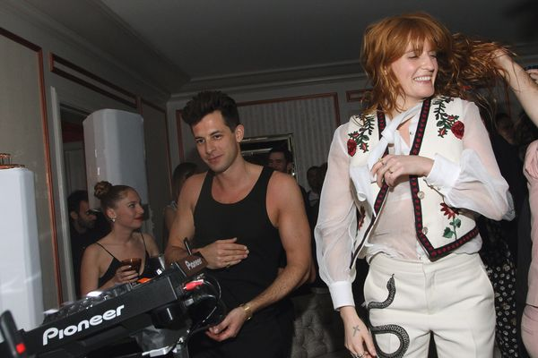 Musicians Mark Ronson and Florence Welch attend the Absolut Elyx Hosts Mark Ronson's Grammy's Afterparty at Elyx House Los An