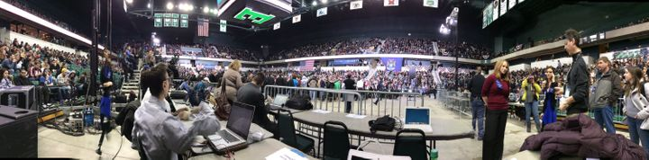 It was a full house in Michigan on Monday when Bernie Sanders came to town.