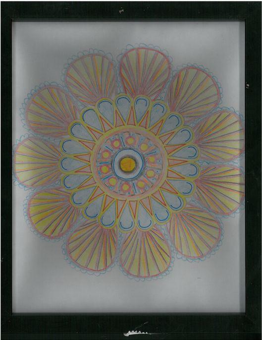 SunPower CEO Tom Werner's daughter gave him a framed mandala to help his meditation.