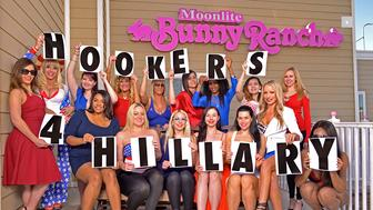 A group of sex workers in Nevada are supporting Hillary Clinton's presidential bid with a group called Hookers 4 Hillary