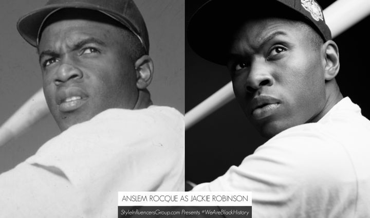 Jackie Robinson is portrayed by Essence.com Digital Content Director Anslem Samuel Rocque.