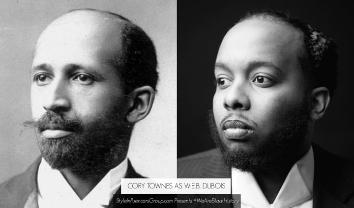 W.E.B. DuBois is portrayed by digital culture consultant Cory Townes.