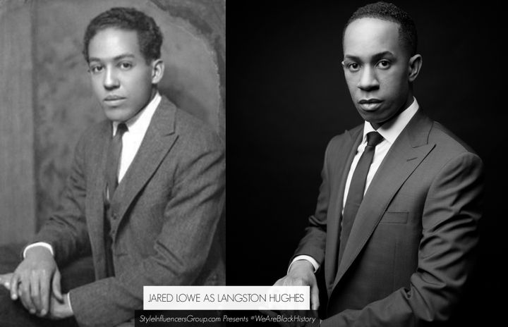 Langston Hughes is portrayed by writer and The Lowe Factor Founder Jared Michael Lowe.