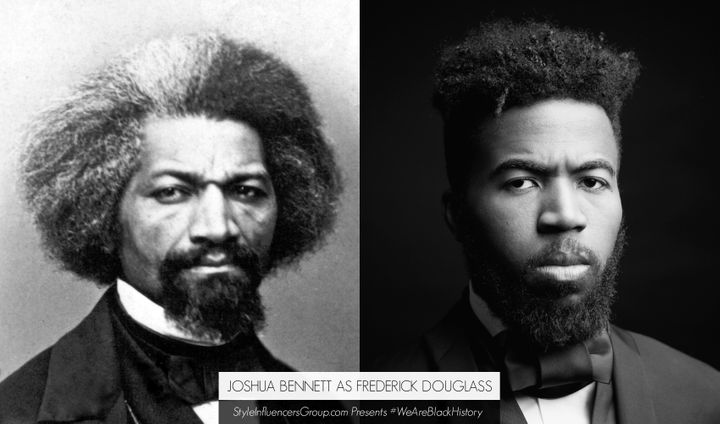 Frederick Douglass is portrayed by writer and arts educator Joshua Bennett.