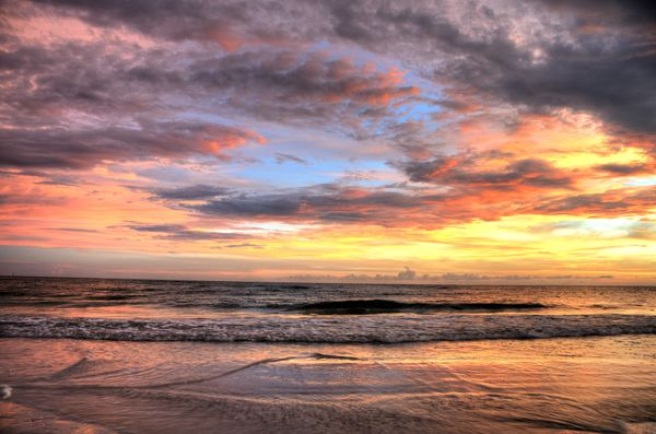 If the superfine white sand doesn't convince you of this beach's perfection, the unbeatable sunsets will. It's a massive