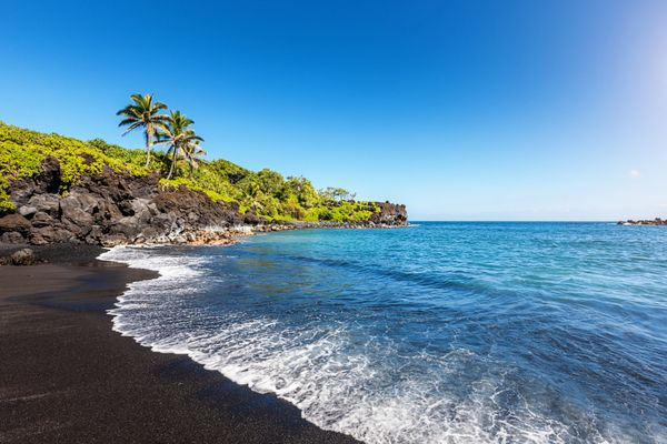 This State Park on Maui is best known for its black sand beach. The striking color of the sand and the warm blue water make i