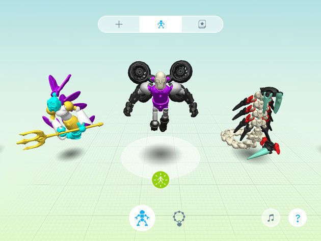 Users design their toys using an app before printing.