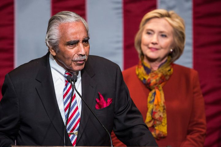Hillary Clinton campaigned with Rep. Charlie Rangel (D-N.Y.) on Tuesday.