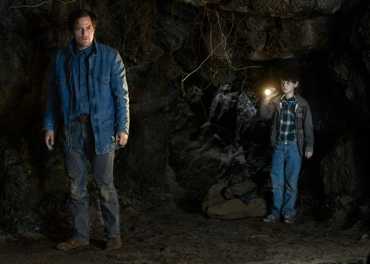 "Michael Shannon andJaeden Lieberherstar in a scene from ""Midnight Special."""