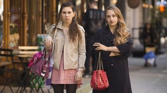 "Zosia Mament and Jemima Kirke star in HBO's ""Girls."""