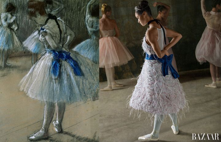 "Copeland as Degas's<i> </i>""Dancer"" in a top and skirt by Carolina Herrera."