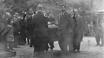 The funeral for Associate Supreme Court Justice John Marshall Harlan in 1911.