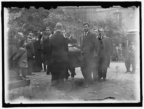 The funeral for Justice John Marshall Harlan in 1911.