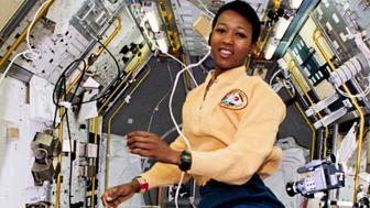 Mae Jemison in space.