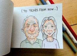 This Flipbook Proposal Adorably Imagines A Couple's Life In Reverse