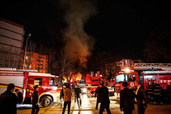 A vehicle full of explosives detonated near the Turkish parliament, military headquarters and government buildings in the cap