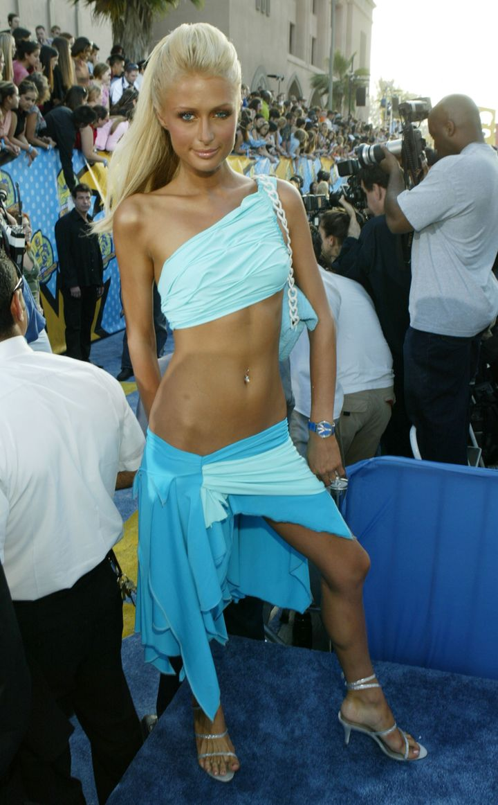 Paris Hilton during 2003 MTV Movie Awards at the The Shrine Auditorium in Los Angeles, California.