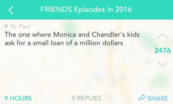 Chandler would likely respond with a string of sarcastic comments, naturally.